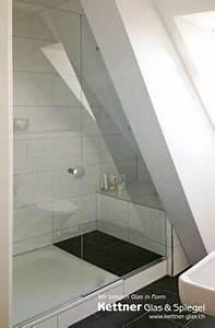 Grundriss Bad Dachschräge : ganzglasdusche mit dachschr ge und ausschnitt bathroom in 2018 dachschr ge badezimmer ~ Markanthonyermac.com Haus und Dekorationen