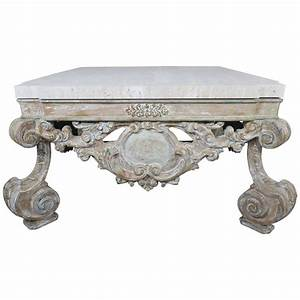 louis xv style coffee table with limestone top at 1stdibs With louis xv coffee table