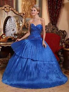 Beautiful Royal Blue Quinceanera Dress To Quinceanera Party