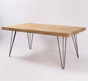 oak and steel coffee table by oakdene designs With oak and metal coffee table