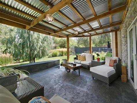 patio roof plans corrugated metal patio roof designs