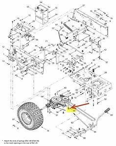 28 Troy Bilt Pony Deck Spring Diagram