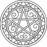 Coloring Pagan Pentacle Mandala Pages Wiccan Embroidery Designs Pentagram Adult Symbols Mandalas Urban Printable Colouring Crafts Threads Urbanthreads Unique Paper sketch template