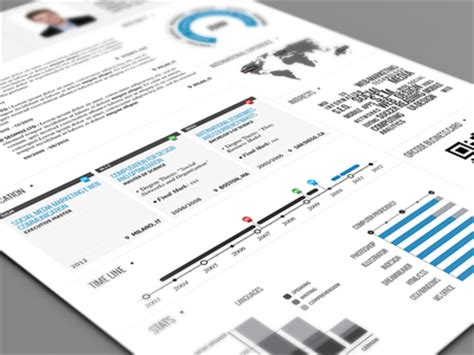 clean infographic resume by paul dribbble