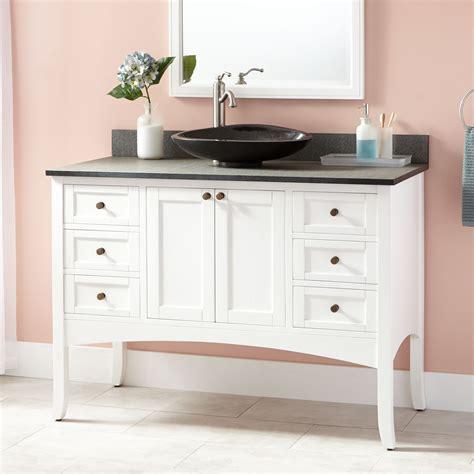 white vessel sink vanity stunning 48 quot cadmon vessel sink vanity white bathroom vanities