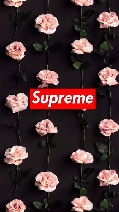 Supreme Wallpapers Rose Floral Adidas Wallpaperplay Parede