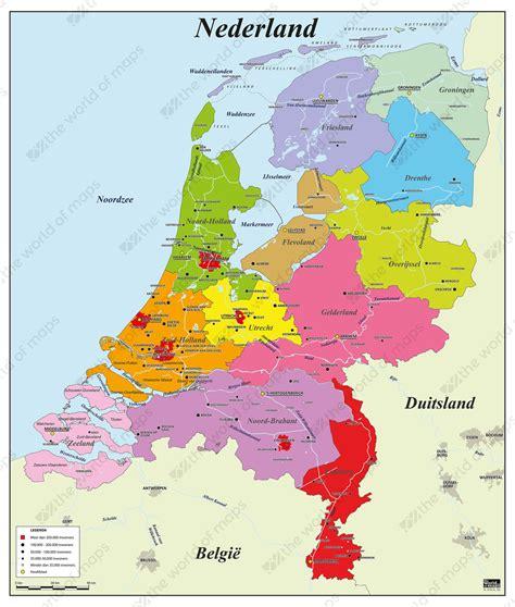 digital basic county map   netherlands