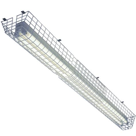 fluorescent light wire guards wire cages to protect