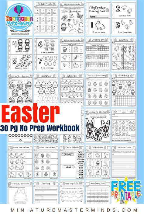 no preschool before kindergarten easter no prep preschool and kindergarten worksheet 30 261