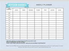 Creating your revision planner