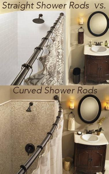 vs curved shower rods rotator rod