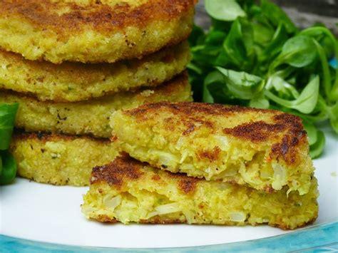 vegane kartoffel blumenkohl puffer super lecker einfach