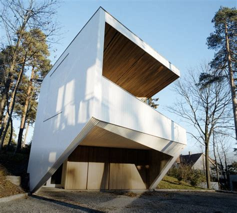 geometric homes norway ultra modern geometric white house in the woods of strand modern house designs