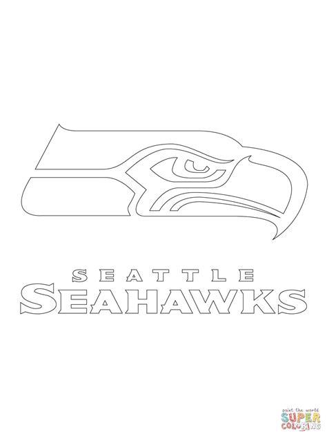 seattle seahawks logo super coloring seattle seahawks