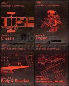 1973 Ford F100 F250 F350 Foldout Wiring Diagram Original