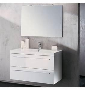 meuble vasque salle de bain sanijura horizon laque blanc With mobilier sdb