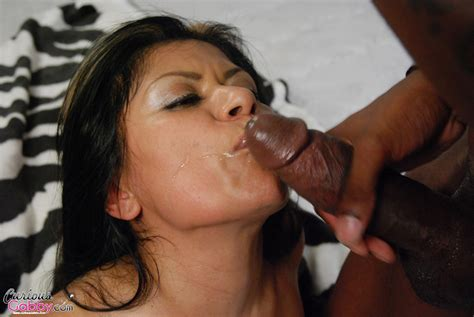 Latina Gabby Quinteros Stuffs Her Mouth With Big Black