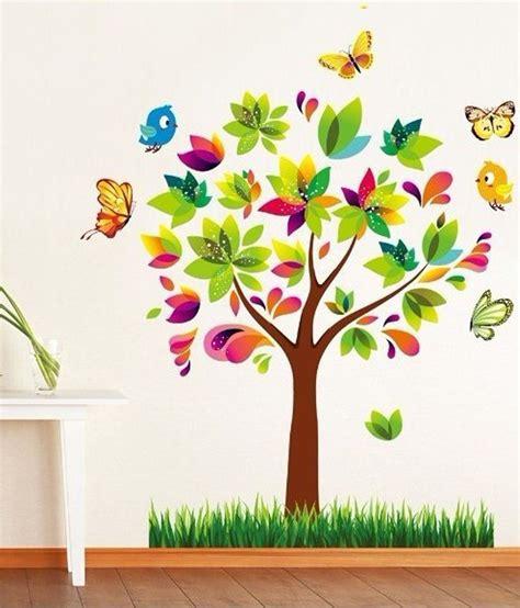 sticker mural sur mesure syga 3d colorful tree buy syga 3d colorful tree