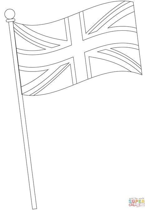 Flag Of The United Kingdom Coloring Page Free Printable