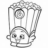 Shopkins Coloring Pages Easy Popcorn Season Box Printable sketch template