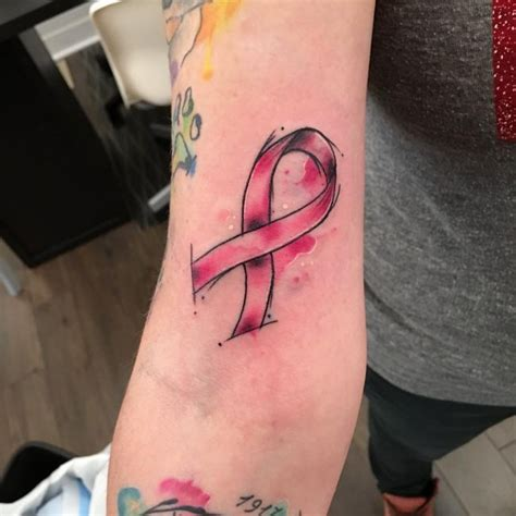 cancer ribbon tattoo designs meanings