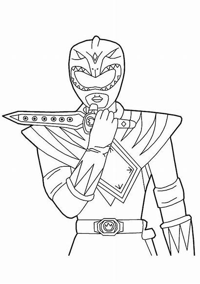 Rangers Ranger Coloring Power Pages Ninja Mighty