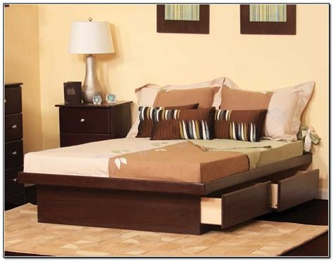 size bed with storage drawers decoration furniture black wooden platform bed with storage drawer