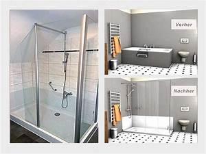 Umbau Wanne Zur Dusche : badewannenumbau alte wanne zur neuen dusche nullbarriere ~ Markanthonyermac.com Haus und Dekorationen