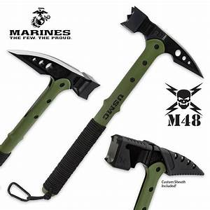 Officially Licensed USMC Tactical War Hammer With Sheath