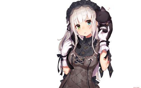 Loli Anime Wallpaper - wallpaper anime loli white hair headband gloves