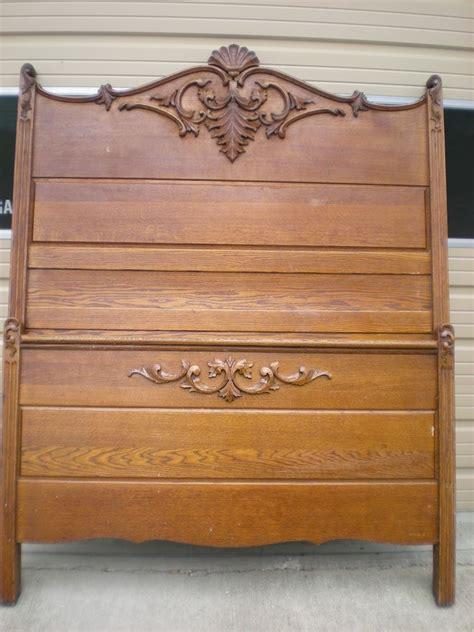 details about antique victorian bed golden oak full size
