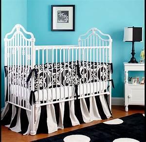 Black white baby nurseries design dazzle for Black and white baby room decor