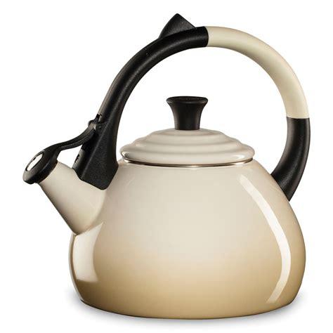 le creuset enameled steel oolong tea kettle  quart dune cutlery