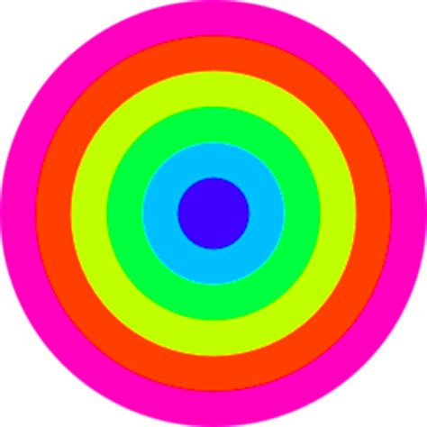 rainbow circle target  color clipart iclipart