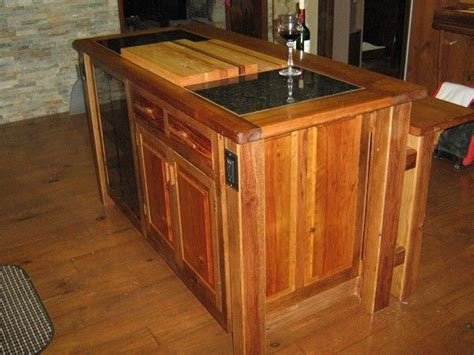 kitchen island made from reclaimed wood crafted kitchen island reclaimed oak barn wood 9412