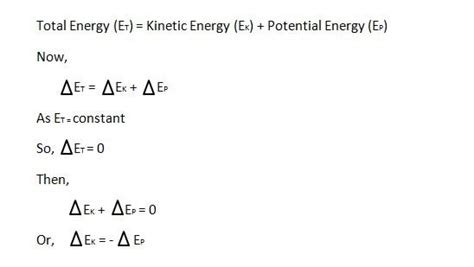 Average impact force x distance traveled = change in kinetic energy. What is the relationship between potential and kinetic energy? - Quora