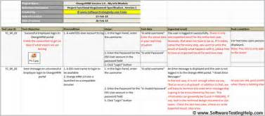 Test Template Excel Writing Test Cases From Srs Document With Sle Test Cases For Our Live Project Software