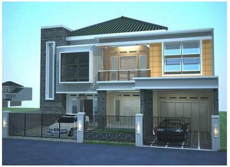 contoh desain rumah lantai  minimalis modern