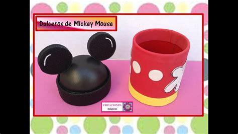 dulcero de mickey mouse creaciones magicas youtube