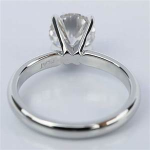 Comfort Fit Round Diamond Solitaire Engagement Ring 1 24 Ct