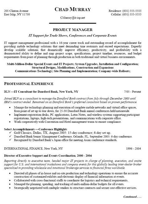 Resume For Program Manager by Program Manager Resume Pdf Bijeefopijburg Nl