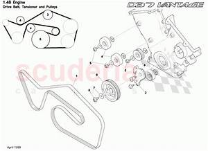 Aston Martin Db7 Vantage Drive Belt  Tensioner And Pulleys