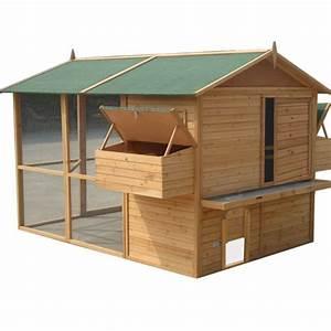 Cabane Pour Poule : grand poulailler xl pour 12 15 poules bois plein solide ~ Premium-room.com Idées de Décoration