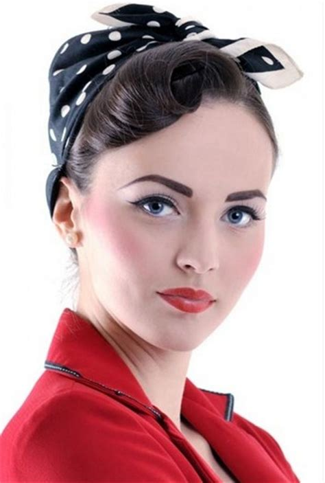 1950s Headband Hairstyle by Vintage Pin Up Hairstyles For Pretty Designs