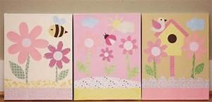 Cadre Chambre Fille : cadre decoration chambre bebe fille ~ Nature-et-papiers.com Idées de Décoration