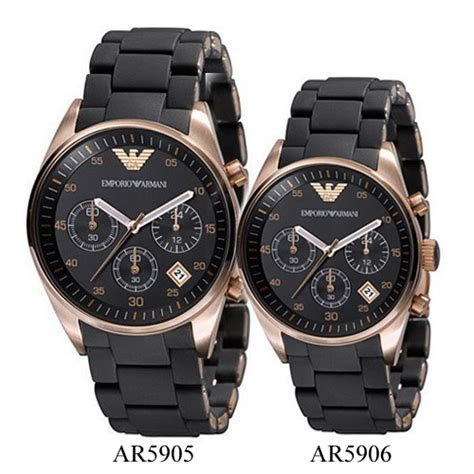 emporio armani ar5905 and ar5906 his and hers armani watches