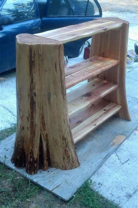 cedar tree stump woodworking