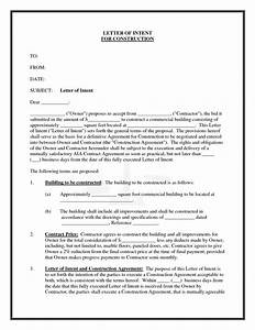 best photos of letter of intent construction With letter of intent template construction