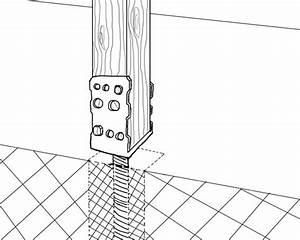 Holz Im Boden Befestigen : pfosten sicher befestigen pfostentr ger und ihre ~ Lizthompson.info Haus und Dekorationen