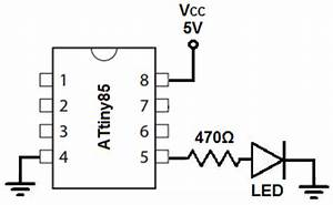 how to build an led blinker circuit with an attiny85 With led blinker circuit